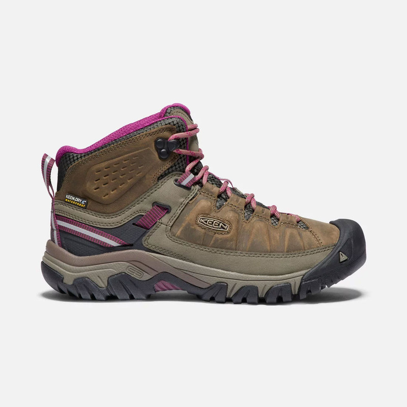 Keen Women's Targhee III Waterproof Mid - Weiss / Boysenberry