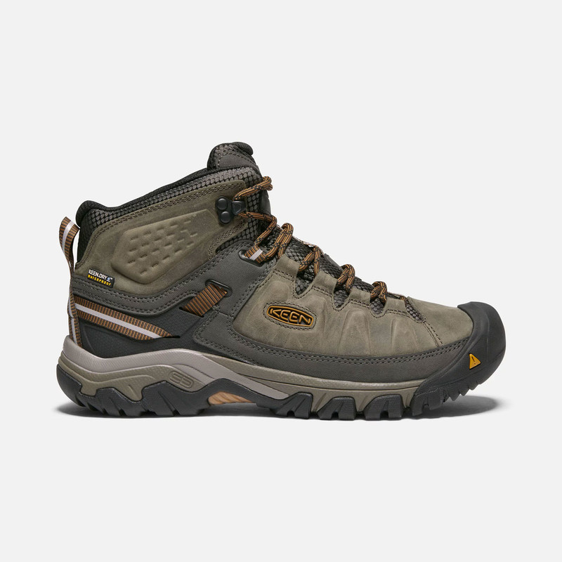 Keen Men's Targhee III Waterproof Mid - Black Olive / Golden Brown