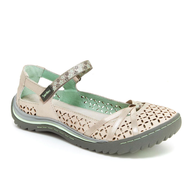Jambu Women's Cherry Blossom - Light Grey/Pastel Green