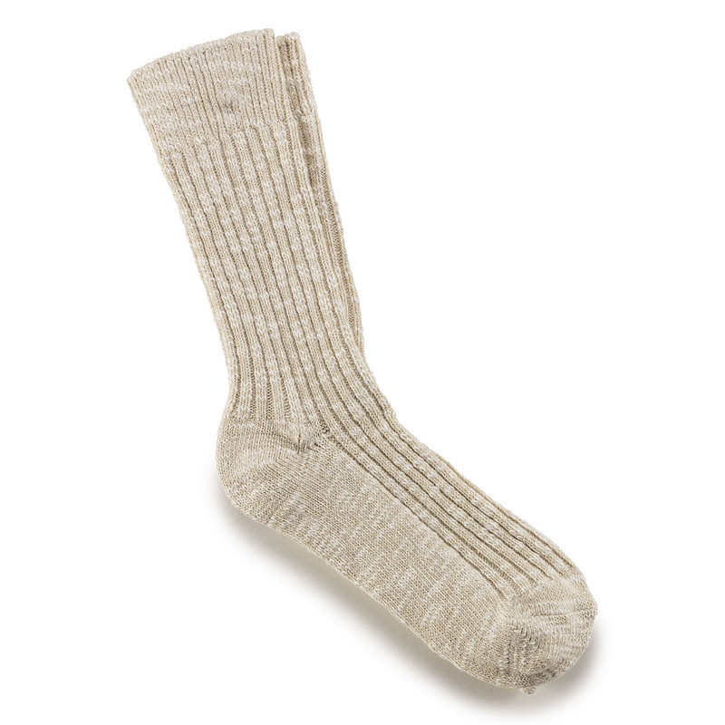 Birkenstock Men's Cotton Slub Socks - Gray White (1008060) - Profile
