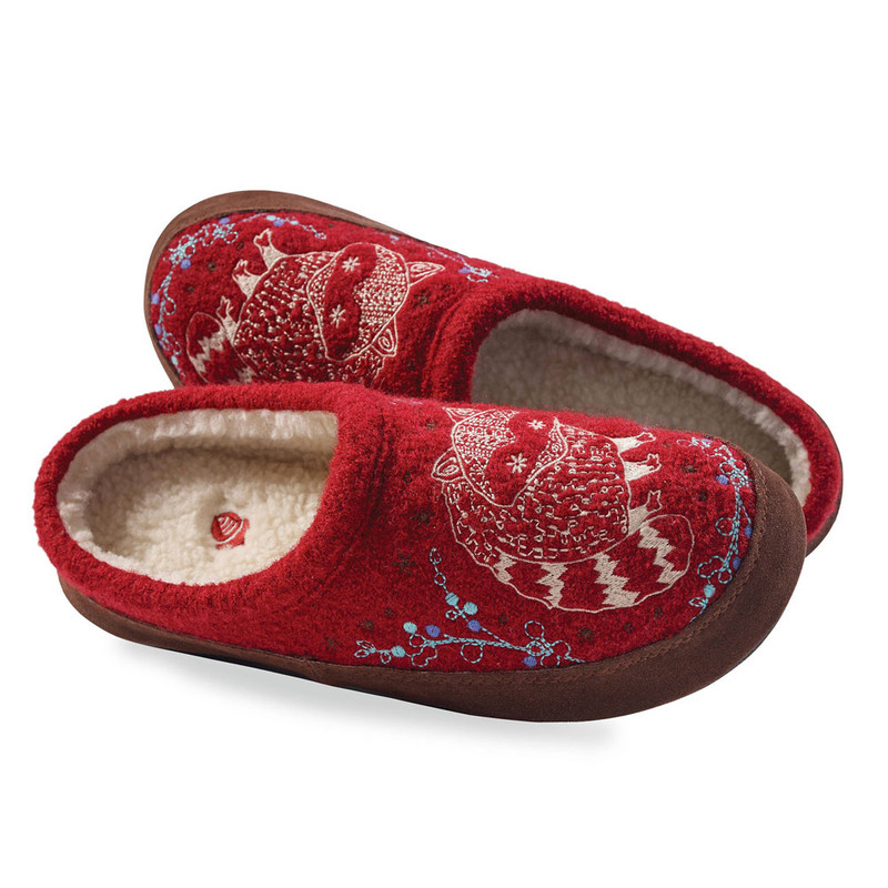 Acorn Women's Forest Mule Slipper - Red Raccoon (A10077/RCO) - Pair