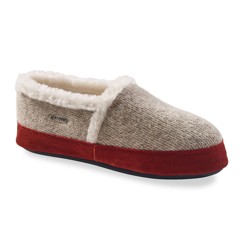 Acorn Women's Moc Ragg Slippers - Grey Ragg Wool