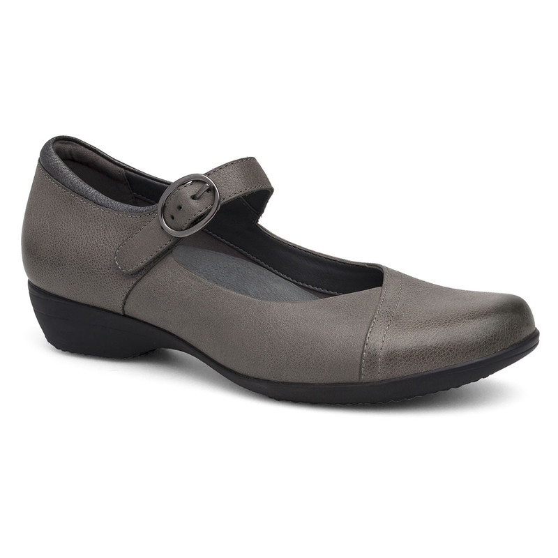 Dansko Women's Fawna - Grey Burnished Nappa - 5501-940200 - Angle