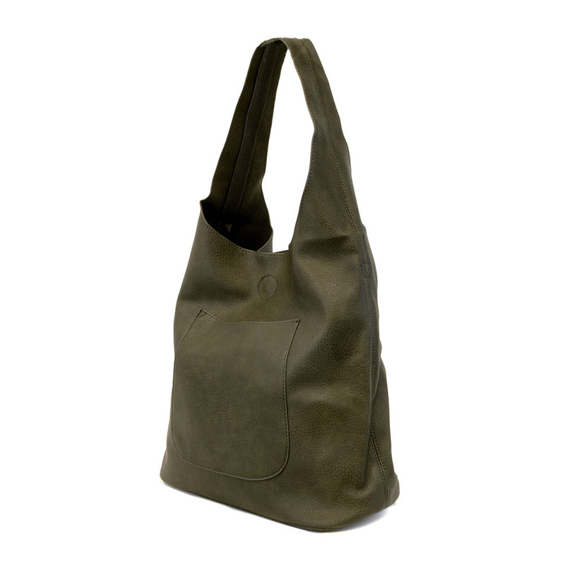 Joy Susan Molly Slouchy Hobo Handbag - Olive