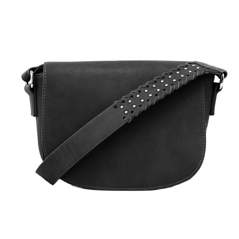 Joy Susan Arianna Guitar Strap Saddle Bag - Black