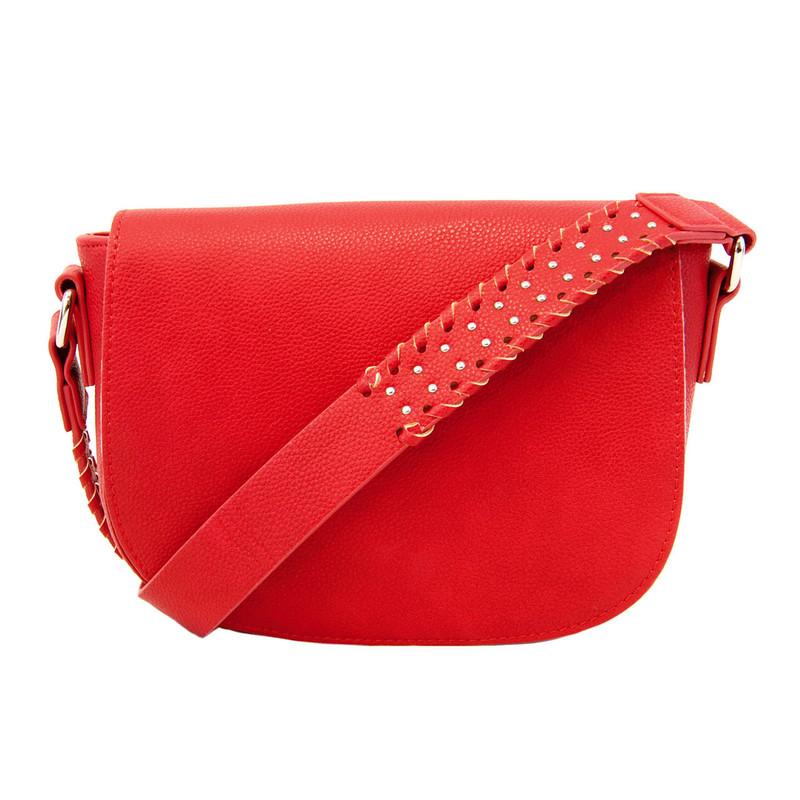 Joy Susan Arianna Guitar Strap Saddle Bag - Very Red