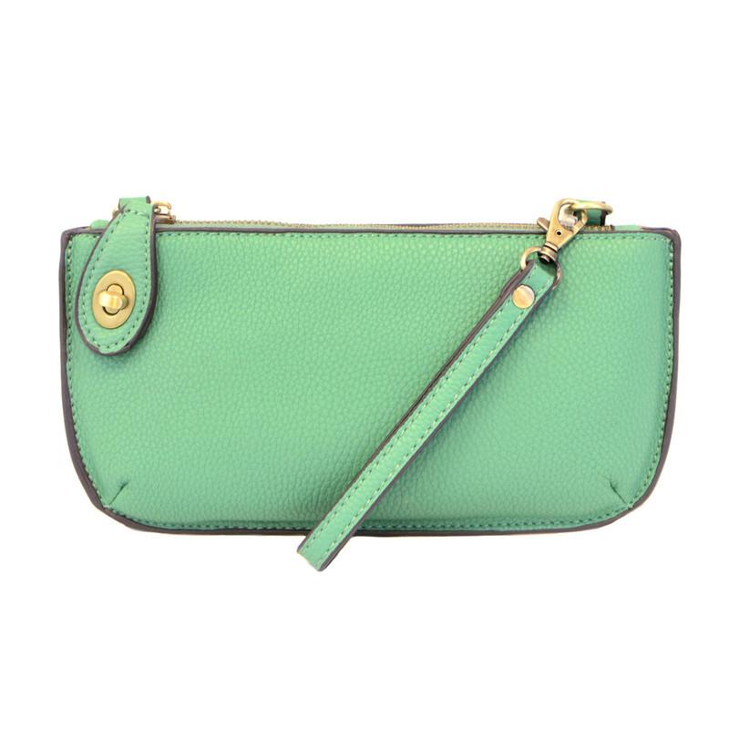 Joy Susan Mini Crossbody Wristlet Clutch - Green Turquoise
