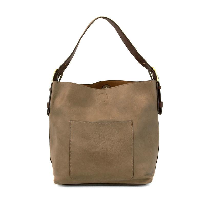 Joy Susan Classic Hobo Handbag - Dark Flax