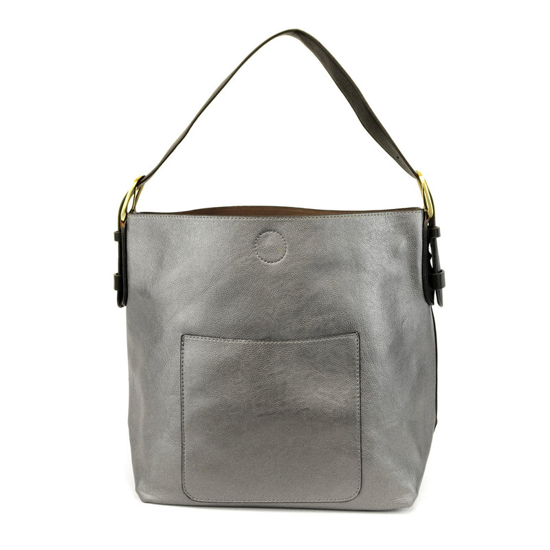 Joy Susan Classic Hobo Handbag - Pewter
