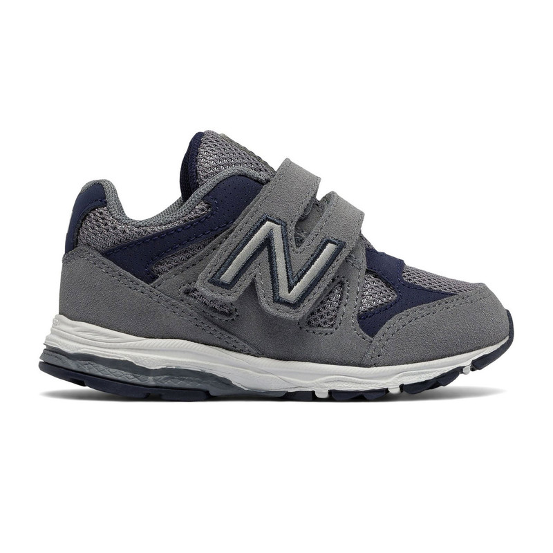 New Balance Hook and Loop 888 (Infant) - Grey with Navy