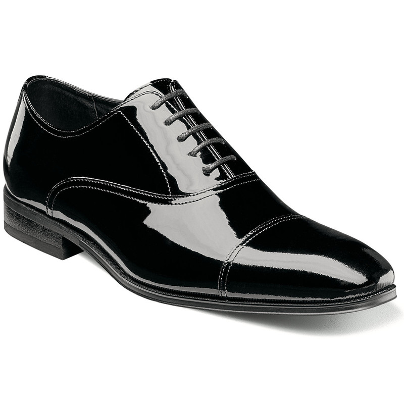 Florsheim Men's Tux Cap Toe - Black Patent