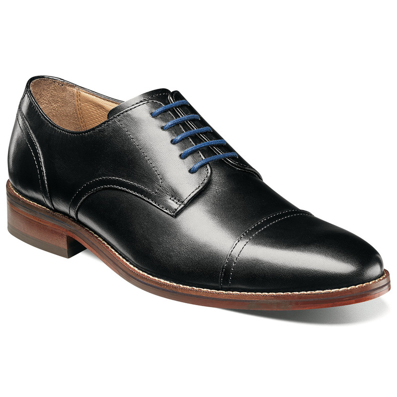 Florsheim Men's Salerno Cap Toe - Black Smooth