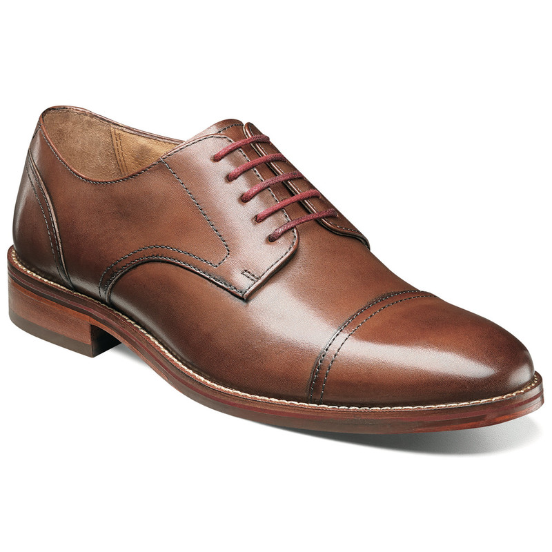 Florsheim Men's Salerno Cap Toe - Cognac Smooth