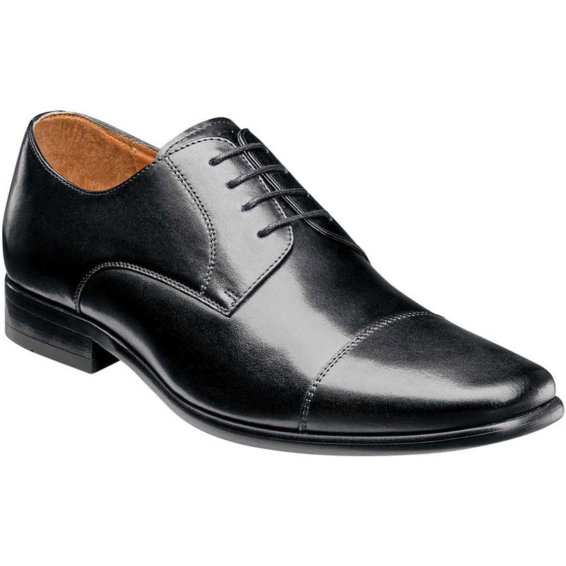 Florsheim Men's Postino Cap Toe Oxford - Black Smooth