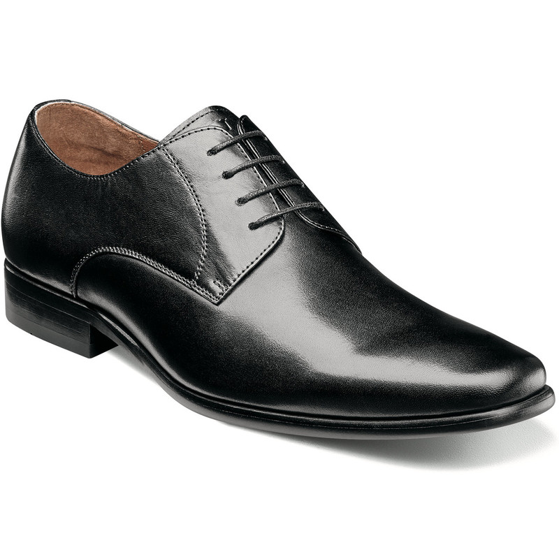 Florsheim Men's Postino Plain Toe Oxford - Black Smooth