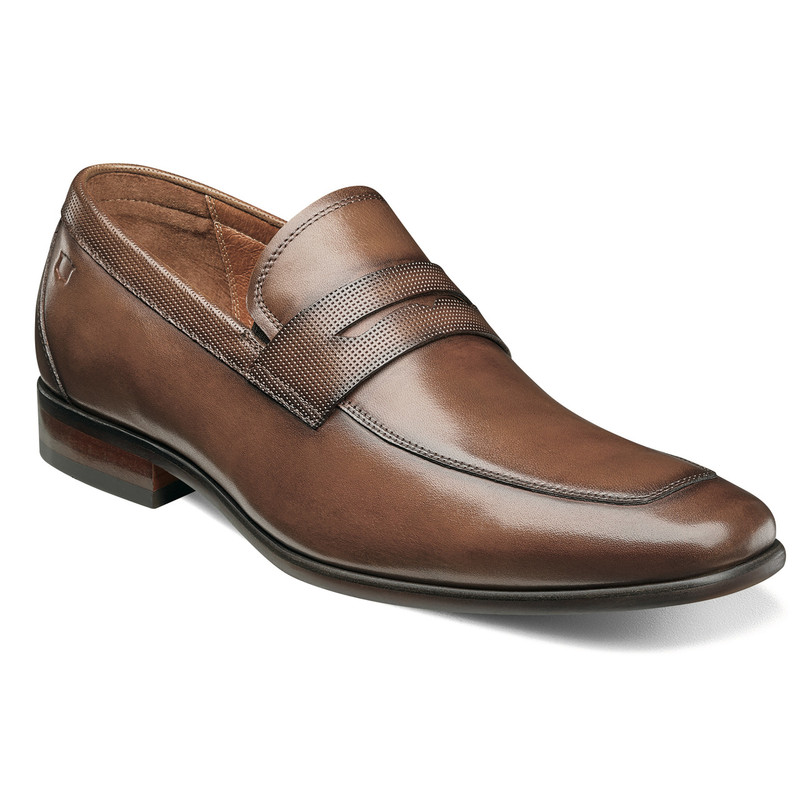 Florsheim Men's Postino Moc Toe Penny Loafer - Cognac Smooth