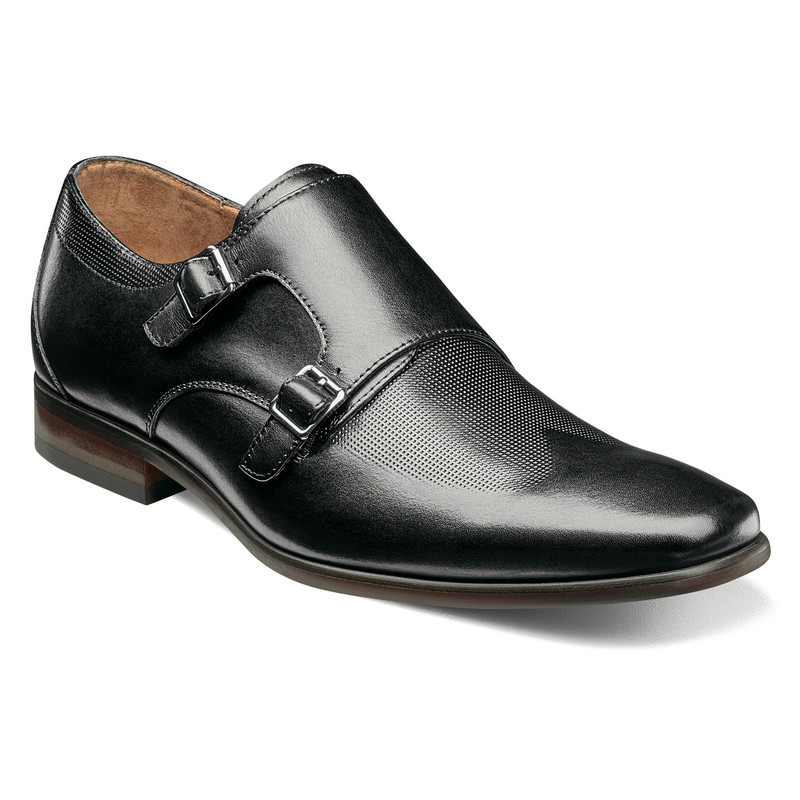 Florsheim Men's Postino Double Monk Strap - Black