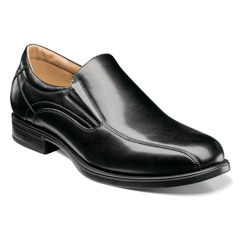 Florsheim Men's Midtown Bike Toe Slip On - Black
