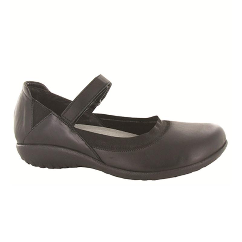 Naot Women's Koati - Jet Black / Black Madras Leather - 11156-280 - Angle