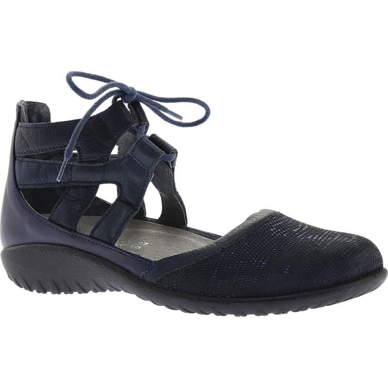 Naot Women's Kata Gladiator Sandal - Navy Reptile Leather / Ink