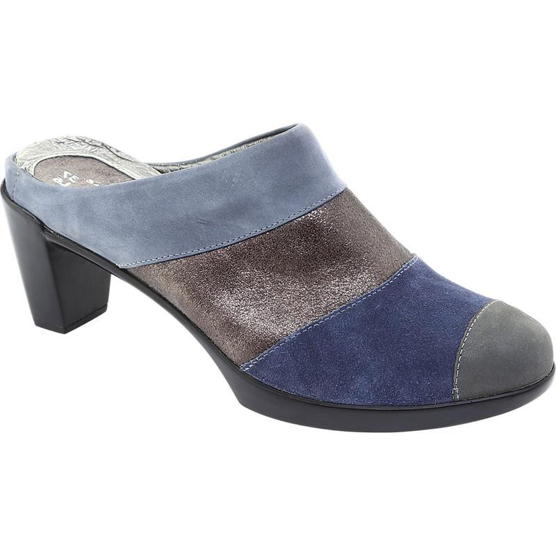 Naot Women's Fortuna Mule - Blue / Gray Combo Nubuck