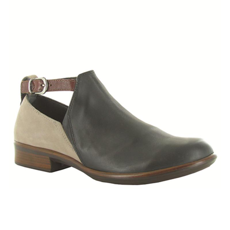 Naot Women's Kasmin Bootie - Jet Black Leather / Stone Nubuck / Luggage Leather - 26042-NKM - Profile