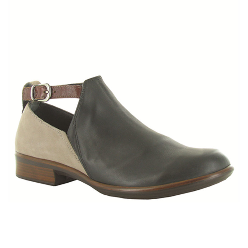 Naot Women's Kasmin Bootie - Jet Black Leather / Stone Nubuck / Luggage Leather