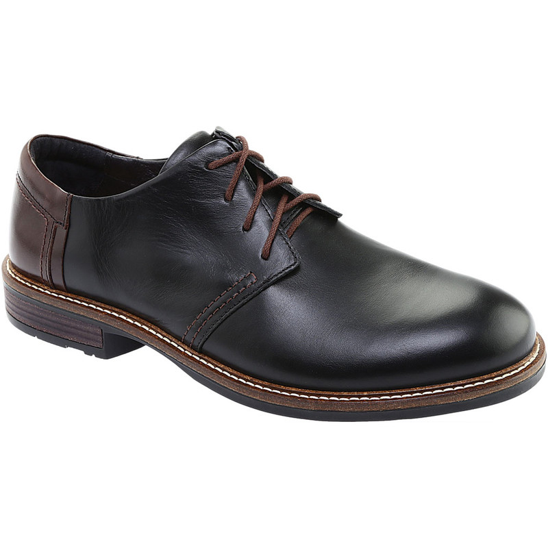 Naot Men's Chief - Black Raven / Walnut Leather