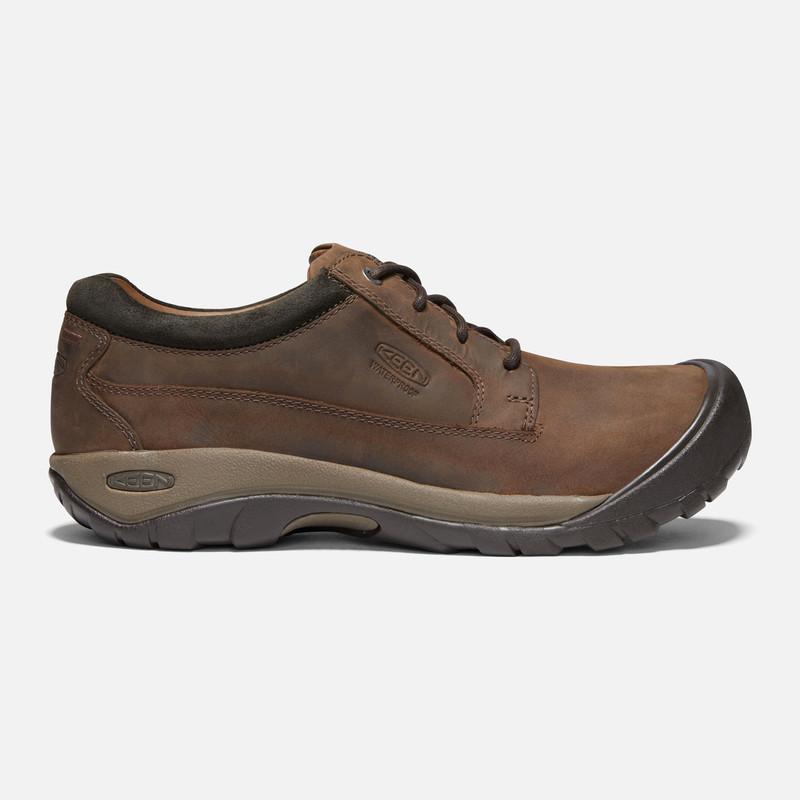 Keen Men's Austin Waterproof - Brown / Black Olive - 1019511 - Profile
