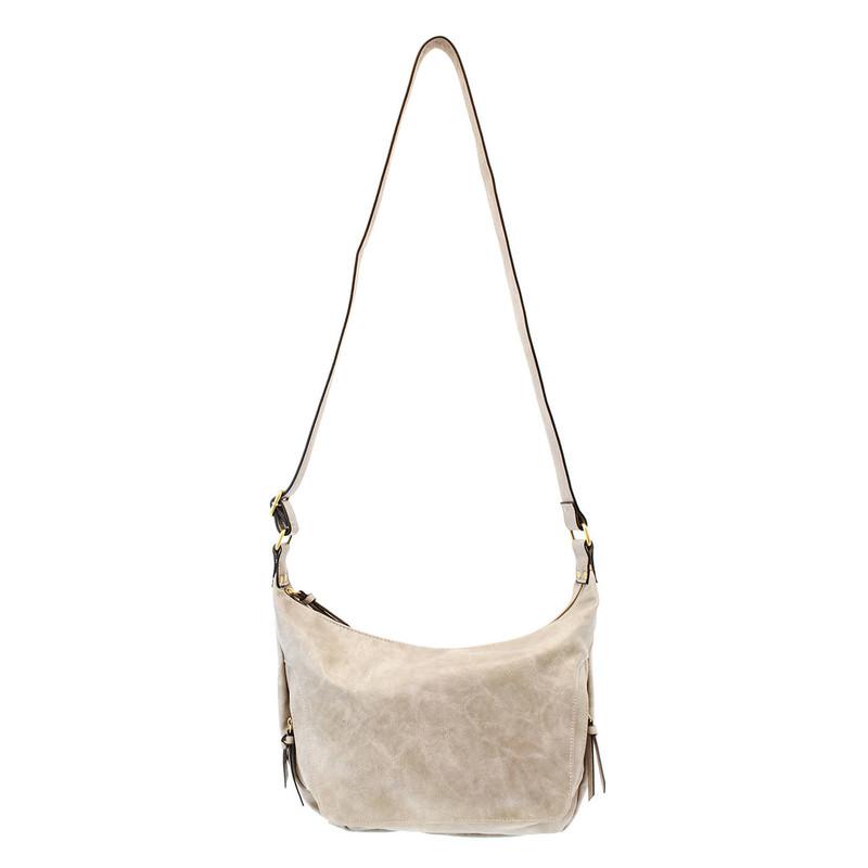 Joy Susan Debbie Vintage Hobo Handbag - Dove Grey