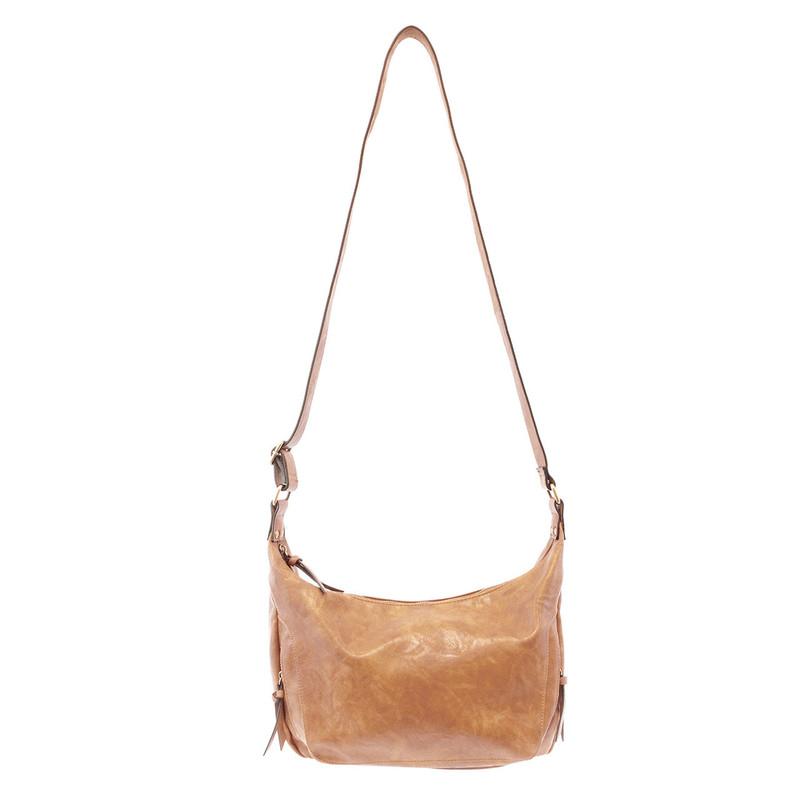 Joy Susan Debbie Vintage Hobo Handbag - Walnut