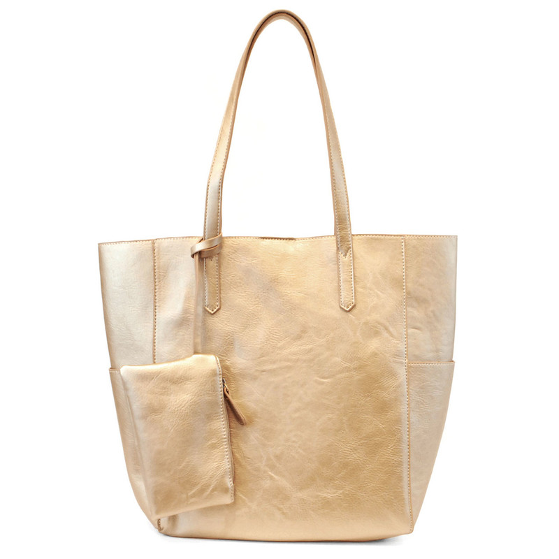 Joy Susan North South Bella Tote - Metallic Gold