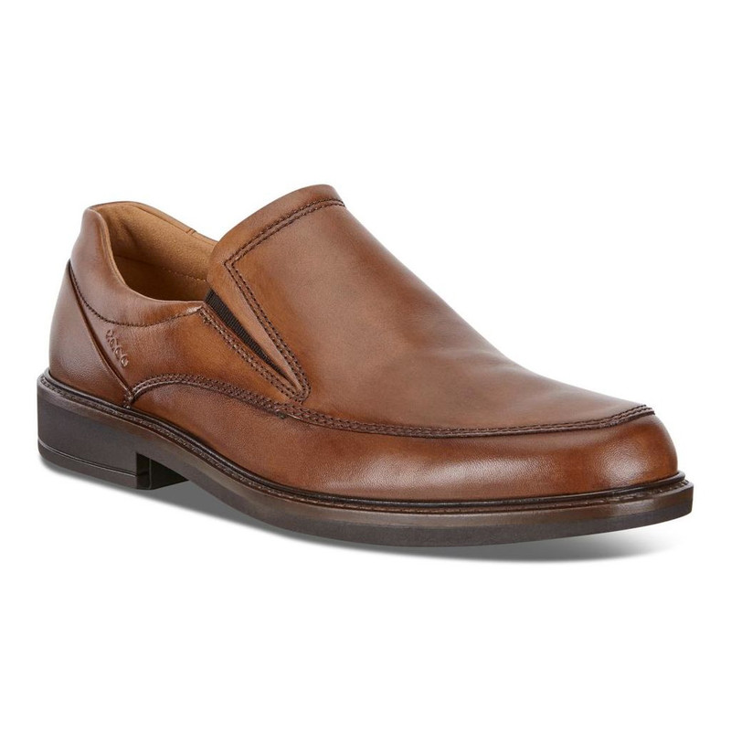 ECCO Men's Holton Apron Toe Slip On - Amber
