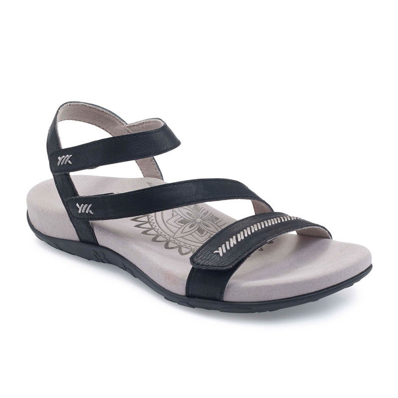 Aetrex Women's Gabby Adjustable Sandal - Black