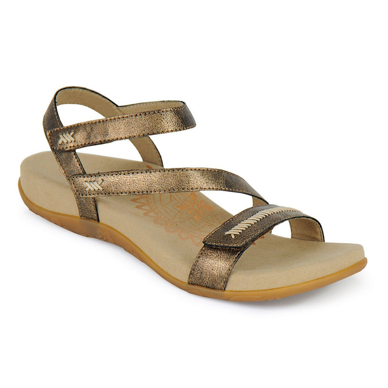 Aetrex Women's Gabby Adjustable Quarter Strap - Bronze