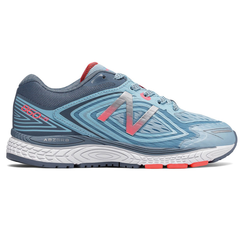 New Balance 860v8 Grade School Running - Clear Sky / Guava