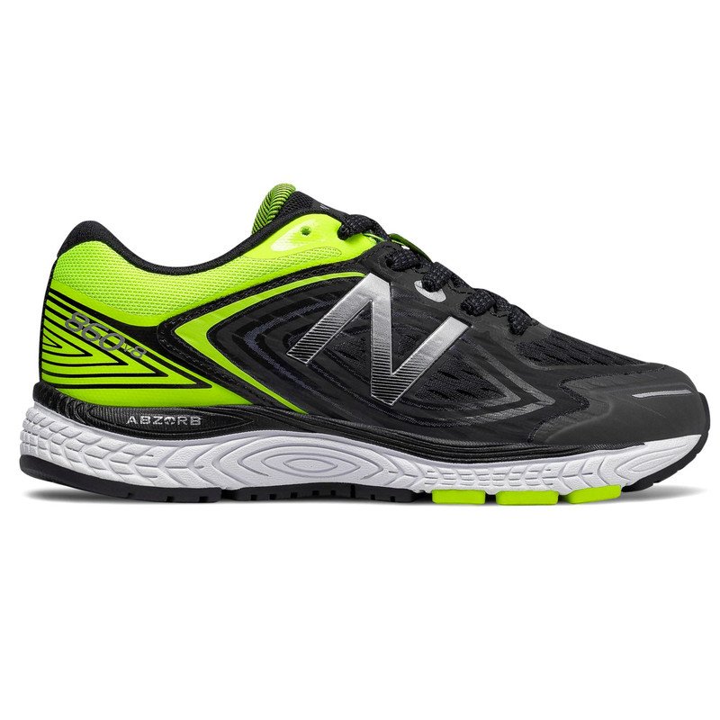 New Balance 860v8 Grade School Running - Black / Hi-Lite