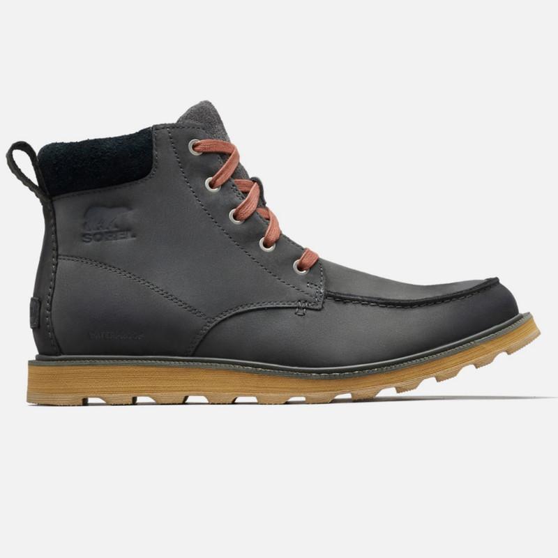 Sorel Madson™ Moc Toe WP Boot - Grill / Black - 1767231-028 - Profile