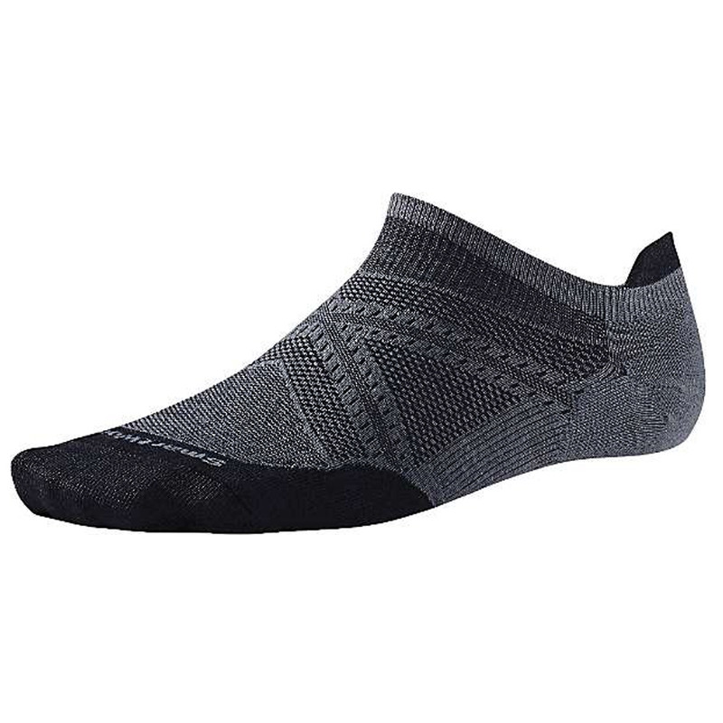 Smartwool Men's PhD Run Ultra Light Micro Socks - Graphite / Black