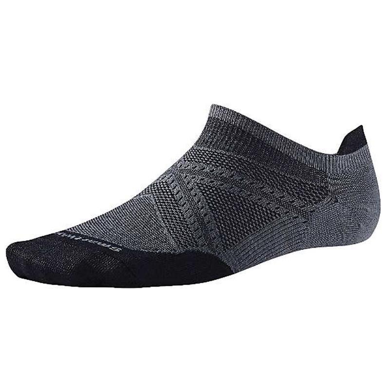 Smartwool Men's PhD Run Ultra Light Micro Socks - Graphite / Black