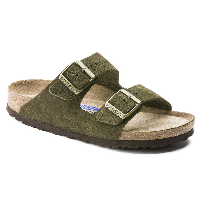 Birkenstock Arizona Soft Footbed - Forest Suede (Narrow Width) - 1011300 - Main