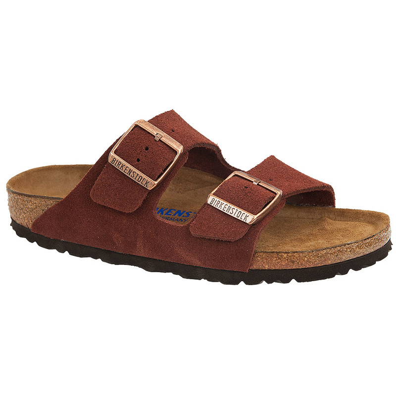 Birkenstock Arizona Soft Footbed - Port Suede (Narrow Width)