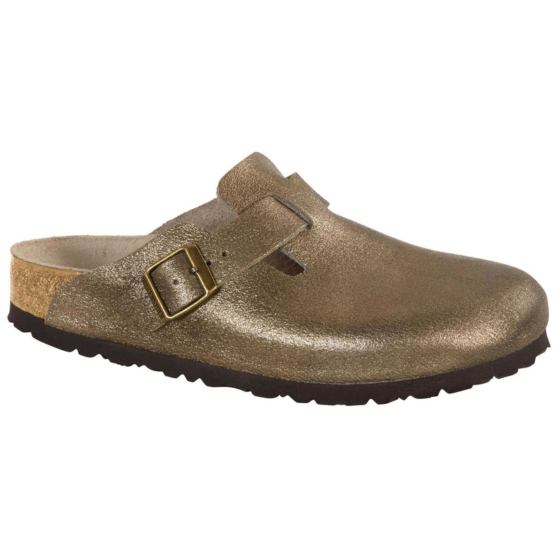 Birkenstock Boston - Washed Metallic Antique Gold (Narrow Width) - 1011278 - Main Image
