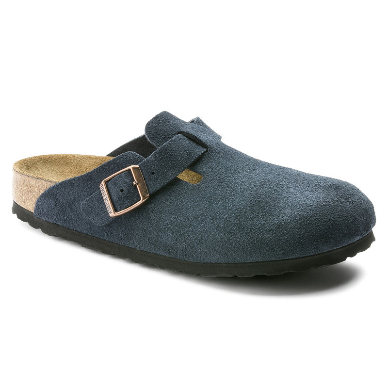 Birkenstock Boston Soft Footbed - Navy Suede