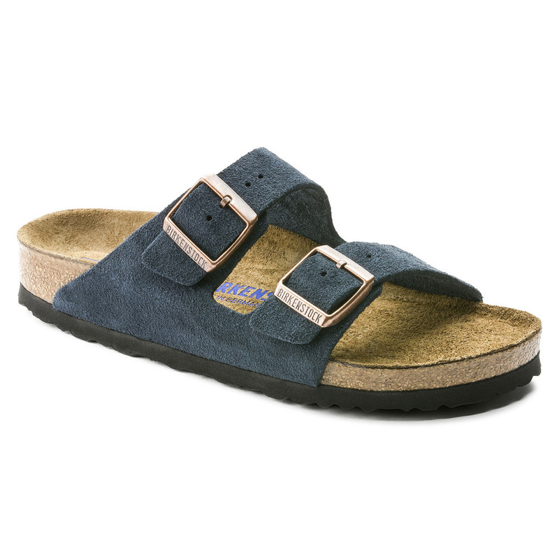 Birkenstock Arizona Soft Footbed - Navy Suede - 1012423 - Main Image
