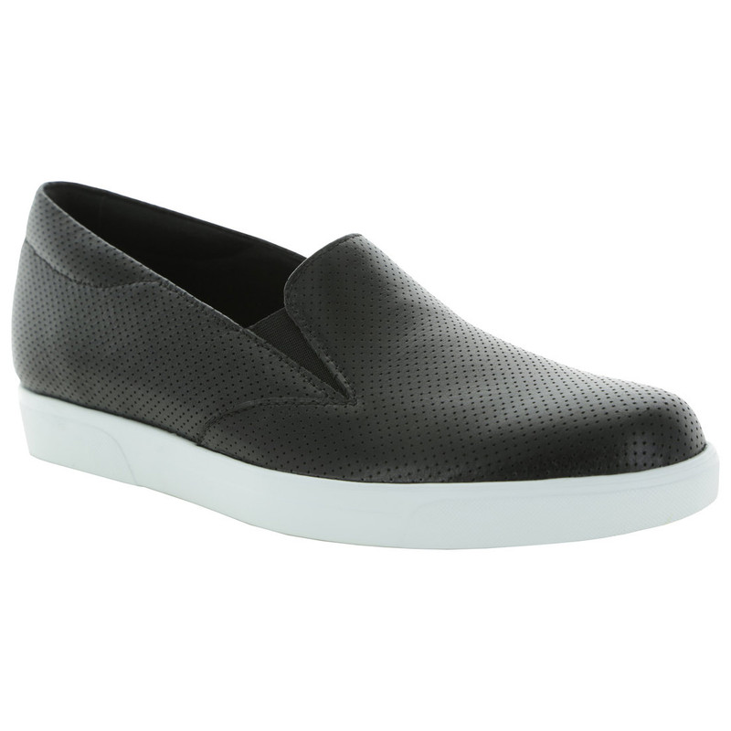 Munro Women's Lulu - Black Perf Leather - Profile Image