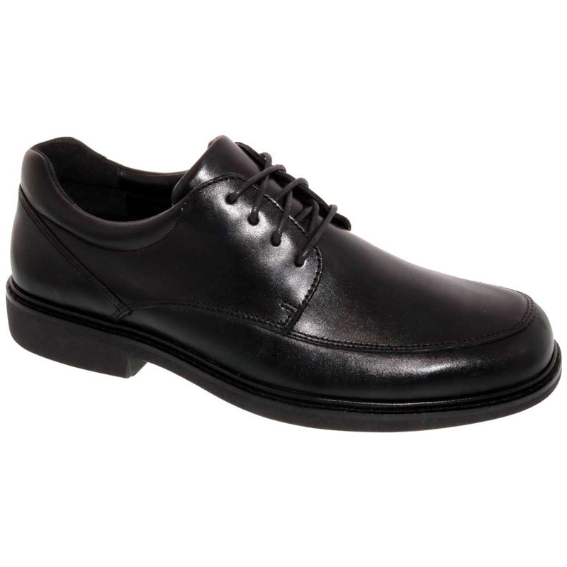 Drew Men's Park Oxford - Black Leather