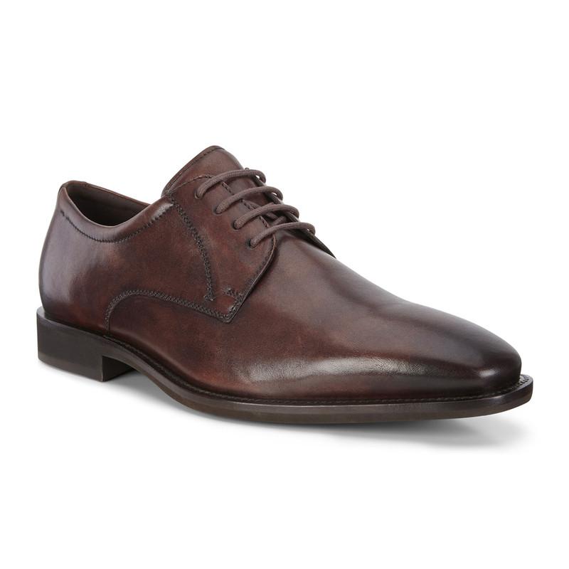ECCO Men's Calcan Shoe - Cocoa Brown - 640704-01482 - Angle