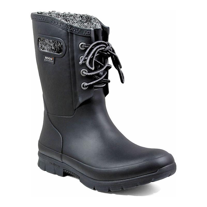 Bogs Women's Amanda Plush Boot - Black - 72103-001 - Angle