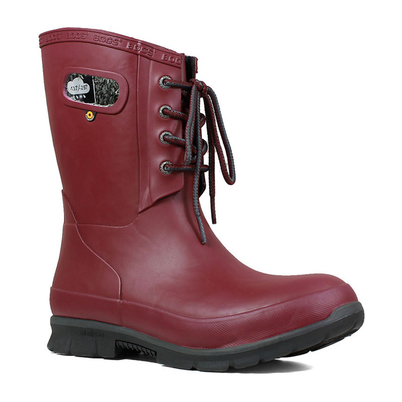 Bogs Women's Amanda Plush Boot - Burgundy - 72103-601 - Main Image